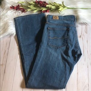 Red Engine lily jeans size 27 EUC